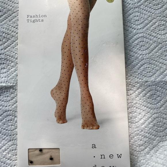 a new day Accessories - A New Day Fashion Tights Nude w/black specks M/L
